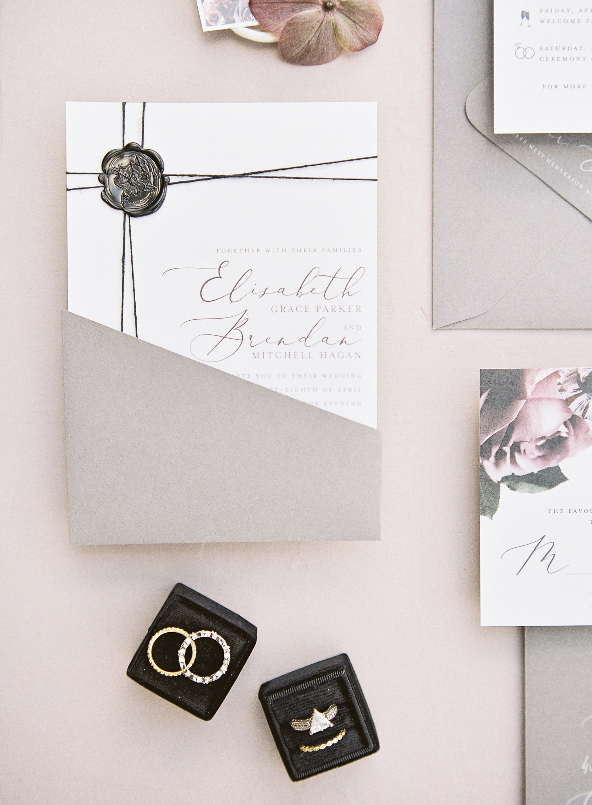 Invitations suite created by Viri Lovely Designed captured by Sunshower Photography for a styled shoot designed by Magnificent Moments Weddings at Tipsy Goat Estate
