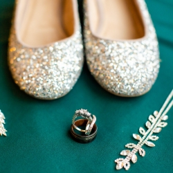 Taylor Main Photography captures the details of bridal accessories during a fall wedding at The Westin