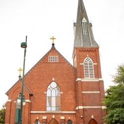 St Peter's Catholic Church was the perfect setting for an Uptown Charlotte wedding ceremony