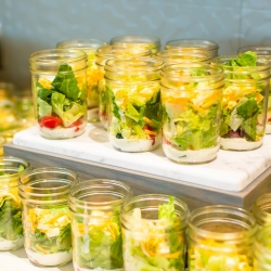 The Westin Catering provided salads in mason jars the perfect grab and go food for guests to enjoy