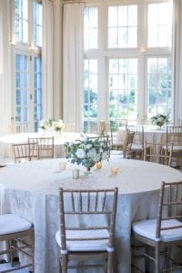 Stunning wedding reception at the Duke Mansion coordinated by Magnificent Moments Weddings