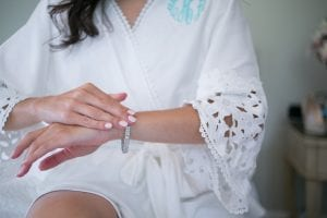 Detail shot of bridal jewelry captured by Dianne Personett for a Duke Mansion Wedding