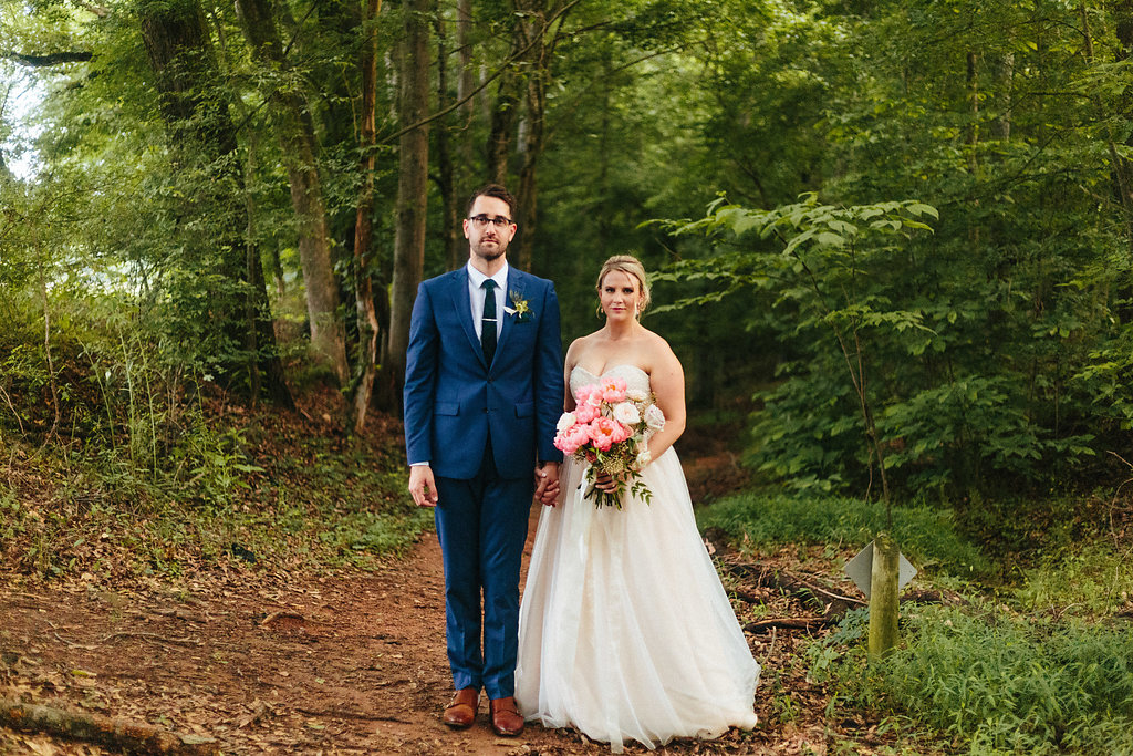 Alivia Photography captures a bride and groom during their spring wedding in Fort Mill South Carolina
