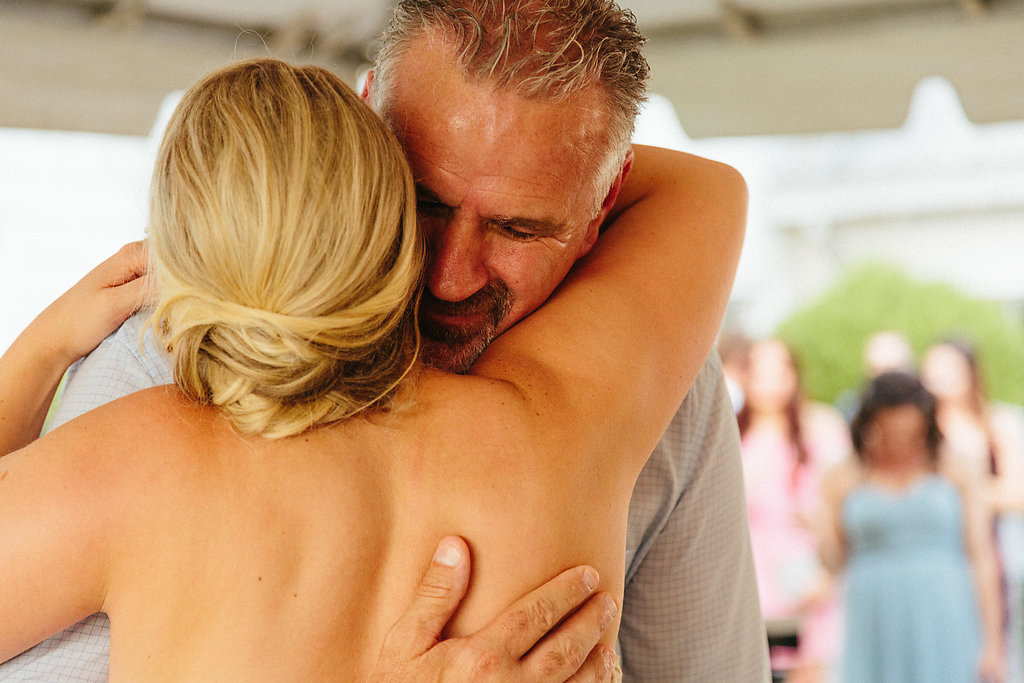 Alivia Photography captures a bride and her father during their dance to music provided by Split Second Sound at a Diary Barn wedding reception