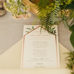 Viri Lovely Designs creates a simple menu for a spring wedding in Fort Mill South Carolina