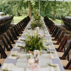 Outdoor spring wedding reception at the Diary Barn in Fort Mill South Carolina captured by Alivia Photography