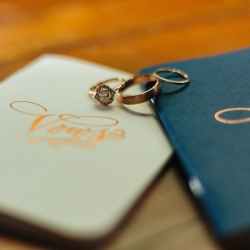 Detail shot of bridal rings captured by Alivia Photography for a Dairy Barn wedding coordinated by Magnificent Moments Weddings