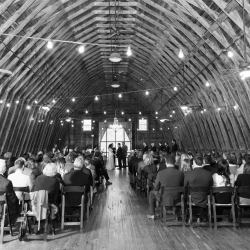 The Dairy Barn served as the perfect setting for a wedding ceremony captured by Jenny Williams Photography