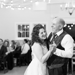 Bride shares a fun dance during her wedding reception to music provided by AAA Entertainment