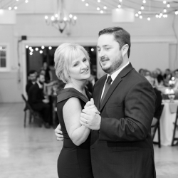 Groom dances with his mother to music provided by AAA Entertainment during his wedding at The Dairy Barn