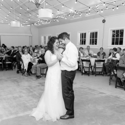 Bride shares a sweet dance with her father during her wedding reception captured by Jenny Williams Photography