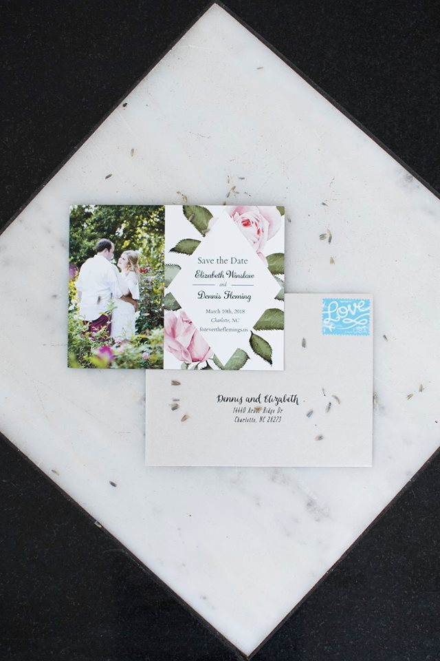 Detail shot of save the date for wedding at Separk Mansion captured by Soussou Productions