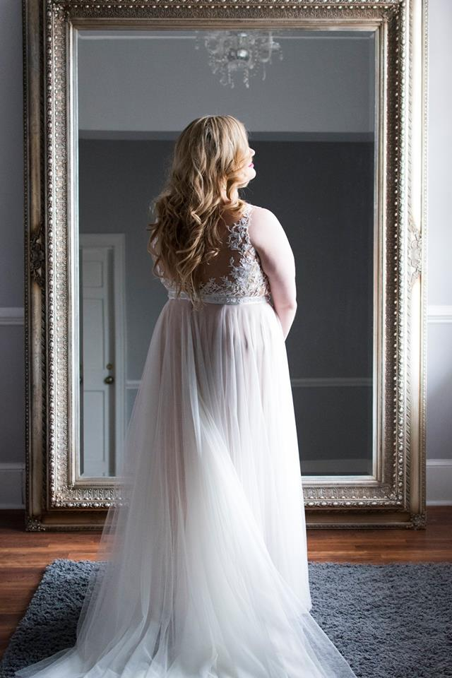 Detail shot of of bride wearing a bridal gown from New York Bride and Groom captured by Soussou Production