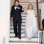 Bride and groom walking into wedding reception at Separk Mansion captured by Soussou Productions