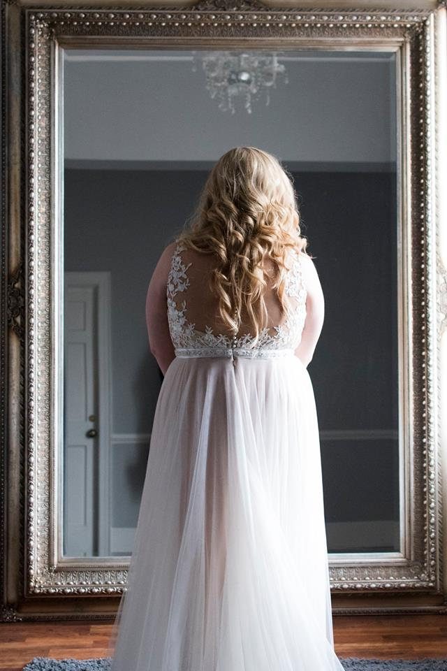 Bride in stunning dress from New York Bride and Groom at Separk Mansion wedding coordinated by Magnificent Moments Weddings