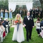 Bride and groom exit ceremony at Separk Mansion captured by Soussou Productions