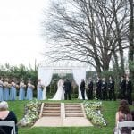 Wedding ceremony at Separk Mansion coordinated by Magnificent Moments Weddings