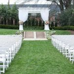 Wedding ceremony set up at Separk Mansion for wedding coordinated by Magnificent Moments Weddings
