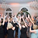 Dancing at Separk Mansion wedding reception to music provided by Split Second Sound