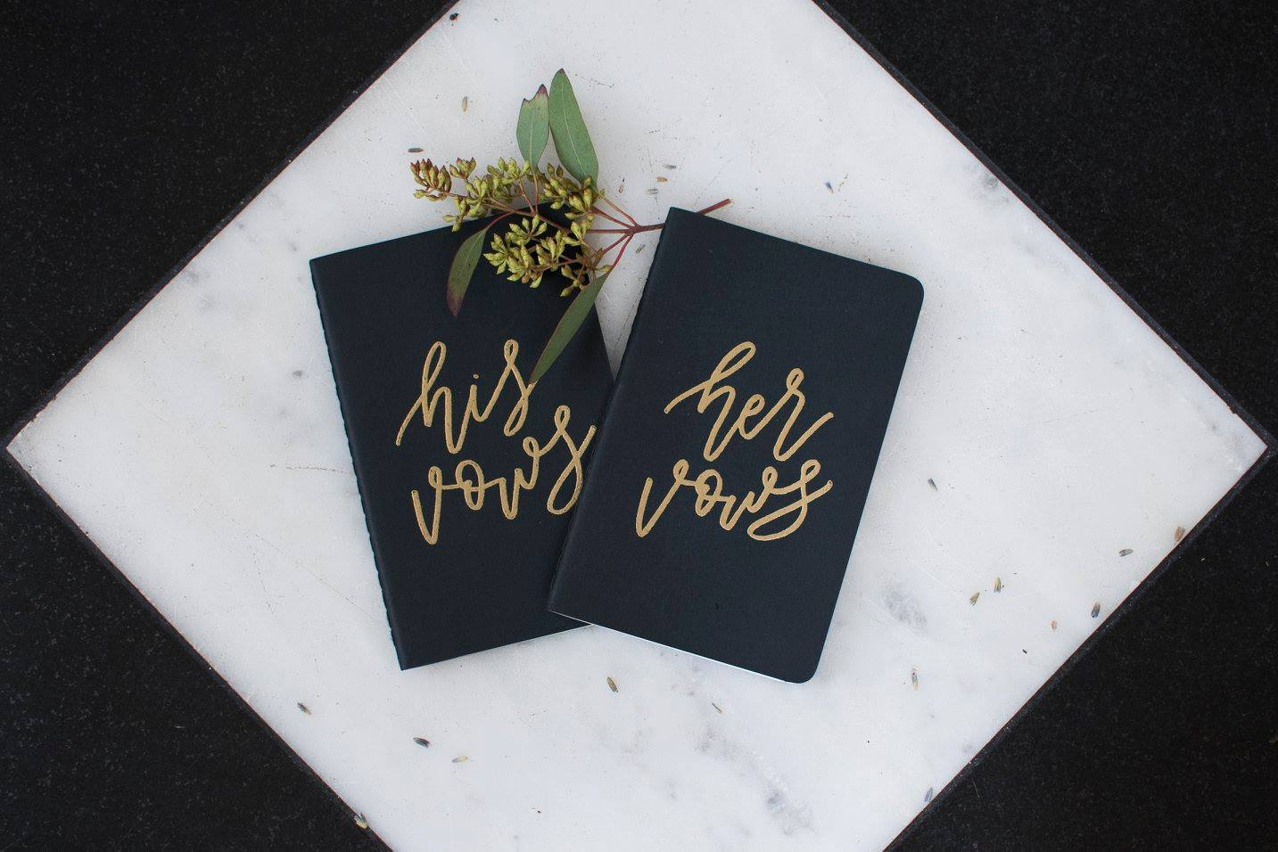 Detail shot of vow books for Separk Mansion wedding captured by Soussou Productions