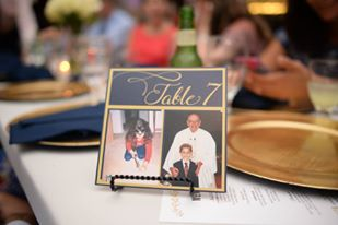 wedding table numbers with pictures