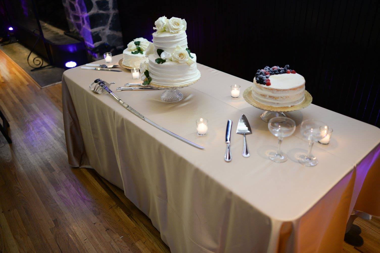 wedding cakes setup from Whole Foods