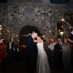 sparkler wedding exit at The Palmer Building