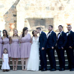Wedding party photos at the Palmer Building in Charlotte NC