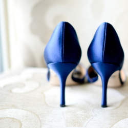 blue manolo blahnik wedding shoes