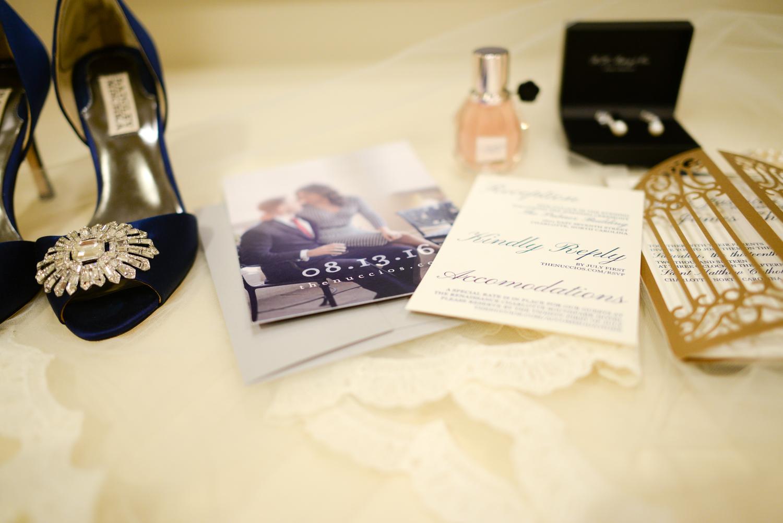 wedding details at the Ballantyne Hotel