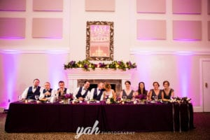Charlotte Wedding head table