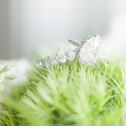 Detail shot of bridal jewelry captured by Casey Hendrickson Photography for Separk Mansion wedding