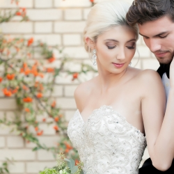 Bride and groom embrace at Separk Mansion wedding captured by Casey Hendrickson Photography