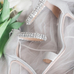 Detail shot of bridal shoes worn for a Separk Mansion Wedding captured by Casey Hendrickson Photography