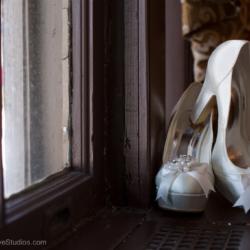 Bridal wedding shoes.