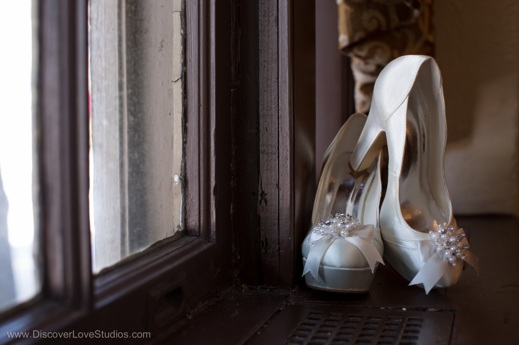 Bridal wedding shoes.