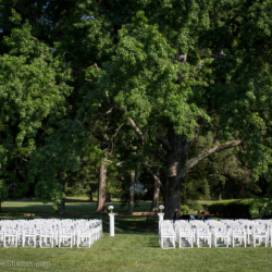 Wedding ceremony setup at the Mint Museum Randolph.