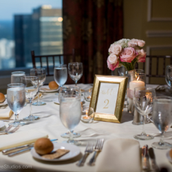 Wedding at the Charlotte City Club with flower by Magnificent Moments Weddings.