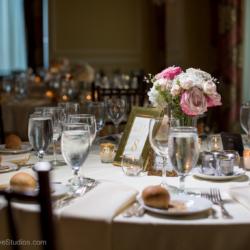 Gorgeous wedding setup at the Charlotte City Club.