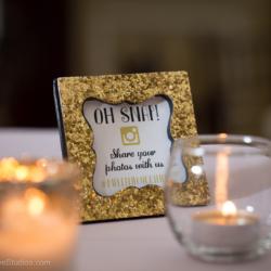 Wedding hashtag signs.