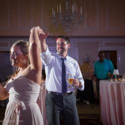 Dancing at a wedding at the Charlotte City Club.