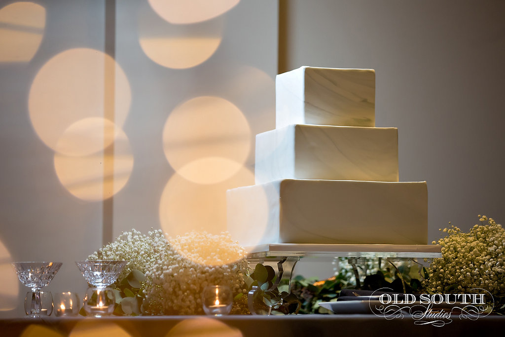 Marble square wedding cake by Wow Factor Cakes