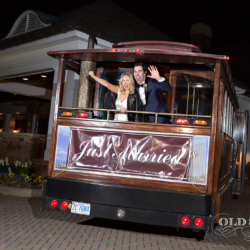 Just Married Trolley get away