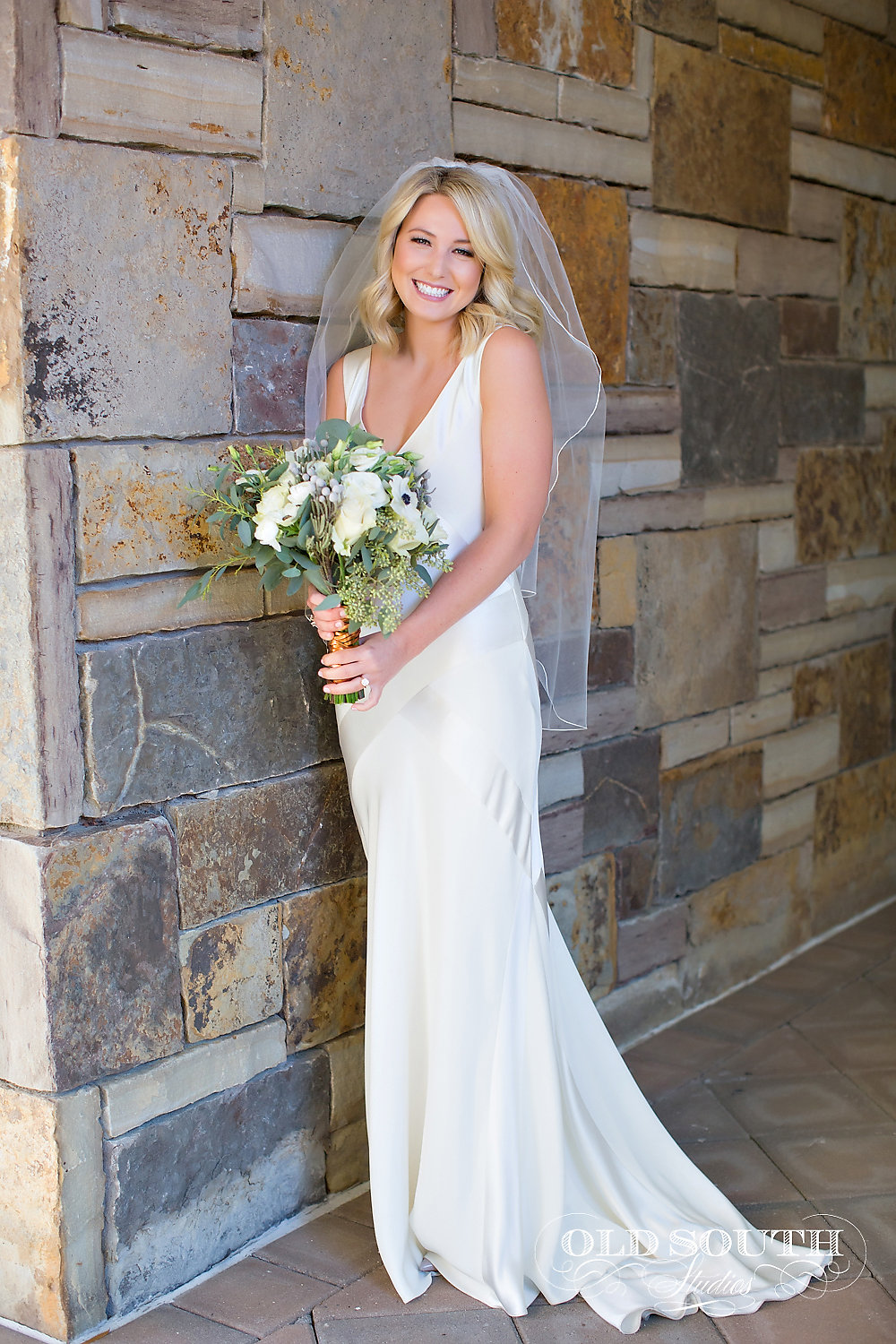 Gorgeous bride at the Ballantyne Country Club in November