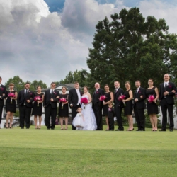 wedding party at the Danville golf club