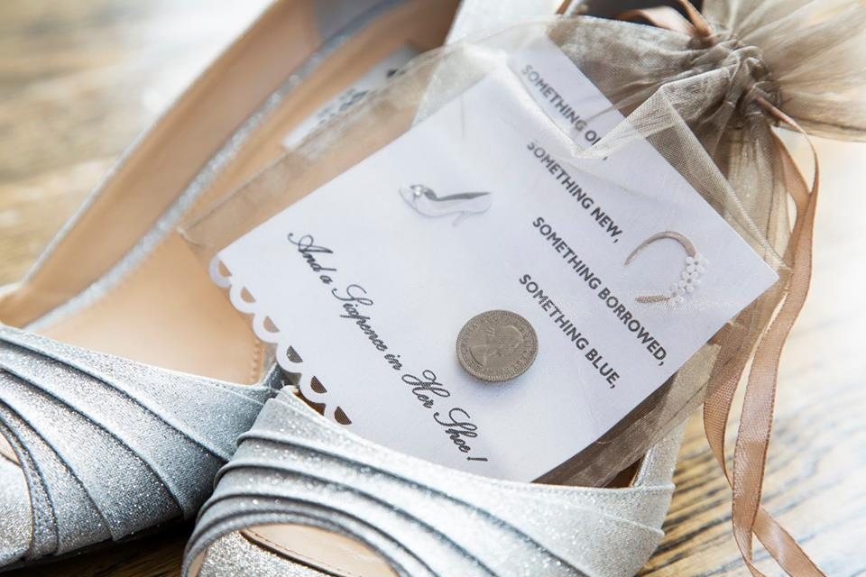 something old, something new, something borrowed, something blue, and a sixpence in her shoe
