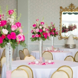 Danville Golf Club looking pink for the wedding