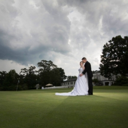 Picture of a wedding at the Danville Golf Club