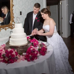 Cutting the cake at the Danville Golf Club in Virginia