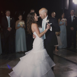 Bride and groom first dance at Founders Hall North Carolina.